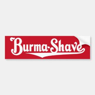 Burma-Shave Bumper Sticker Car Bumper Sticker