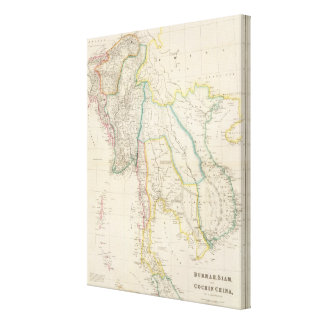 Burmah, Siam, and Cochin China Stretched Canvas Prints
