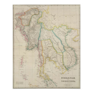 Burmah, Siam, and Cochin China Posters