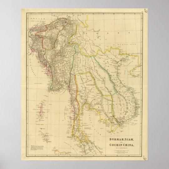 Burmah, Siam, Cochin China Poster