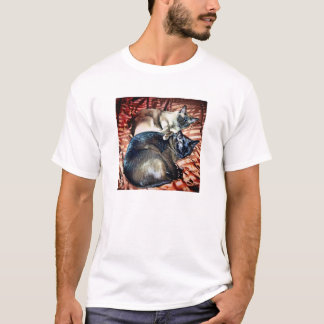 Burmese Brother and Sister on Bed T-Shirt