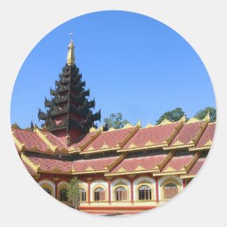 Burmese Buddhist Temple Phra Jow La Keng Classic Round Sticker