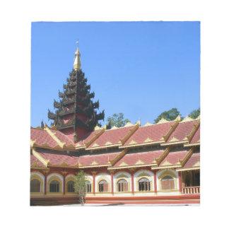 Burmese Buddhist Temple Phra Jow La Keng Notepad