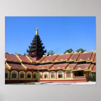 Burmese Buddhist Temple Poster
