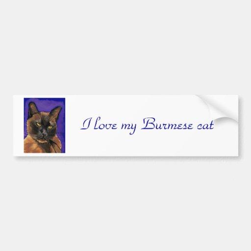 Burmese bumper sticker