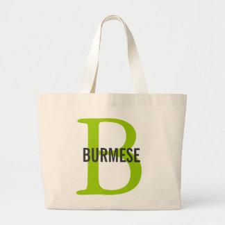 Burmese Cat Breed Monogram Canvas Bags
