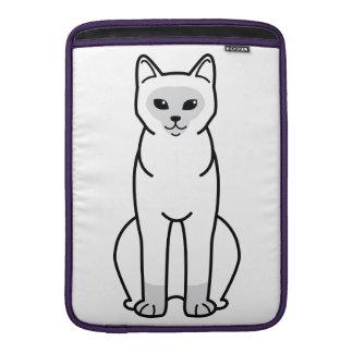 Burmese Cat Cartoon MacBook Sleeve