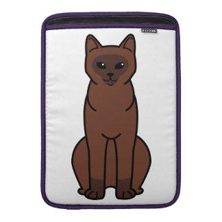 Burmese Cat Cartoon Sleeve For MacBook Air