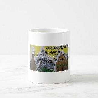 Burmese christian cup/mug classic white coffee mug