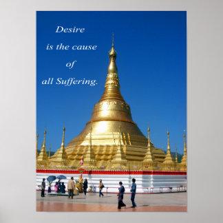 Burmese Golden Pagoda Poster