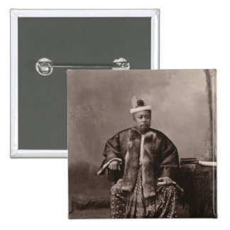 Burmese magistrate, late 19th century button