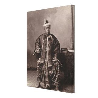 Burmese magistrate, late 19th century canvas print