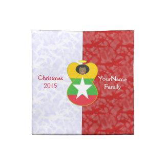 Burmese or Myanmar Angel Flag Red White Napkin
