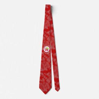 Burmese or Myanmar LOVE White on Red Tie