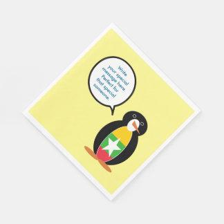 Burmese or Myanmar Talking Penguin Flag Paper Napkin