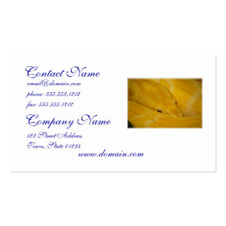 Burmese Python Business Cards