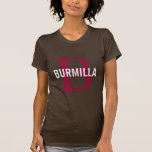 Burmilla Cat Monogram Design T-Shirt