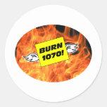 BURN 1070 STICKERS
