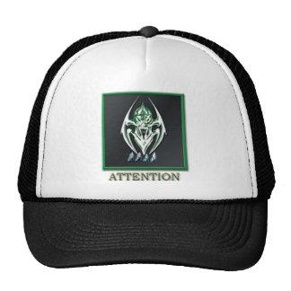 BURN ATTENTION BADGE TRUCKER HAT