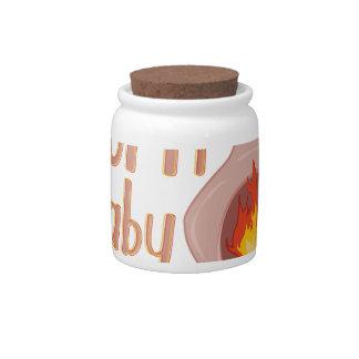 Burn Baby Burn Candy Jar