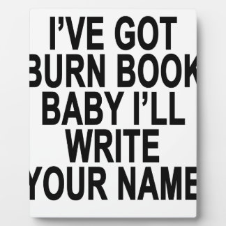 Burn Book Baby.png Plaque