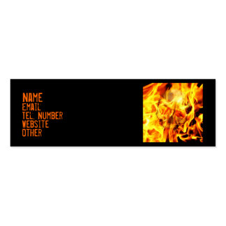 Burn Double-Sided Mini Business Cards (Pack Of 20)