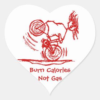 Burn Calories - Not Gas! Heart Sticker