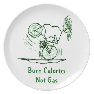 Burn Calories - Not Gas Melamine Plate