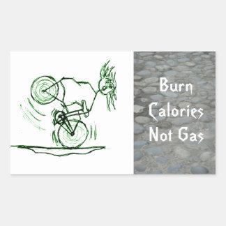 Burn Calories - Not Gas Rectangular Sticker