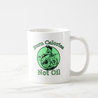 Burn Calories Not Oil Bicycle Products Classic White Coffee Mug