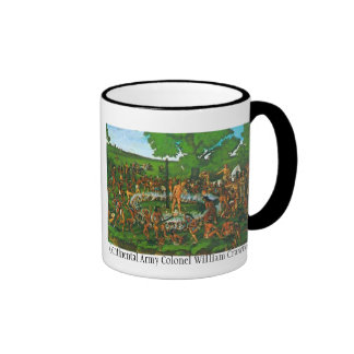 burn, Continental Army Colonel William Crawford Ringer Coffee Mug