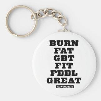 BURN FAT - GET FIT - FEEL GREAT Fitness Motivation Keychain
