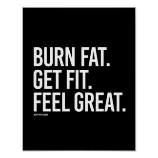 Burn fat get fit feel great -   Training Fitness - Poster