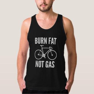 Burn Fat Not Gas American Apparel Fine Jersey Tank Top