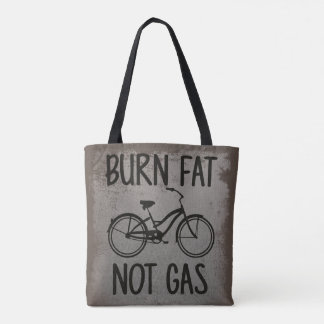 Burn Fat Not Gas Vintage Bicycling Eco-Conscious Tote Bag