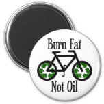Burn Fat Not Oil 2 Inch Round Magnet