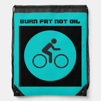 burn fat not oil drawstring backpack