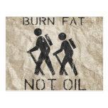 BURN FAT. NOT OIL. (HIKING) POSTCARDS
