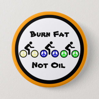 burn fat with biking pinback button