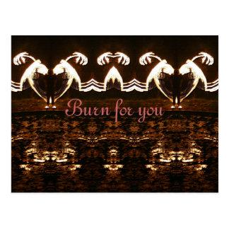 Burn for you postcard