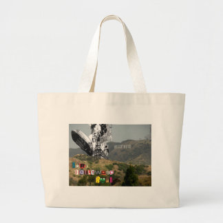 Burn Hollywood Burn Large Tote Bag