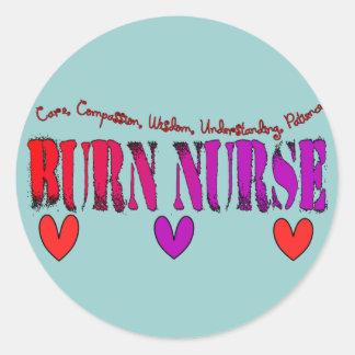 Burn Nurse Gifts Classic Round Sticker