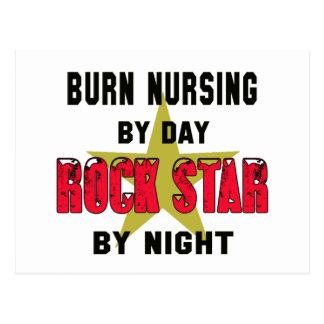 Burn nursing by Day rockstar by night Postcard
