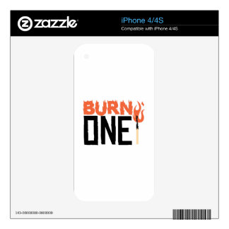 Burn One iPhone 4S Decals