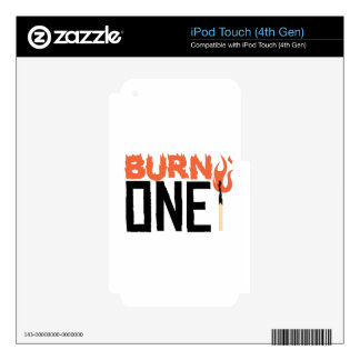Burn One iPod Touch 4G Decal