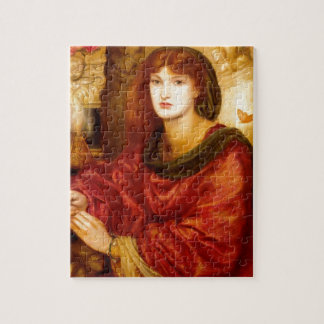 Burn Red Woman antique painting Puzzles