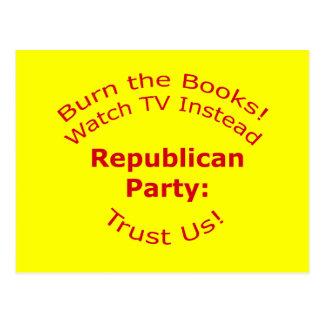 Burn the Books Postcard