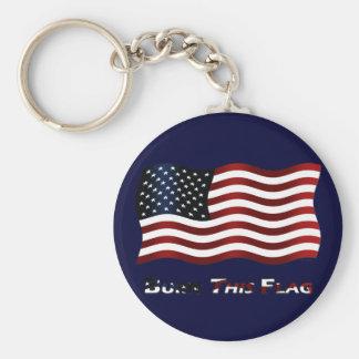 Burn This Flag Keychain