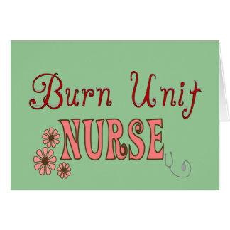 Burn Unit Nurse Gifts Card