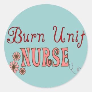 Burn Unit Nurse Gifts Classic Round Sticker